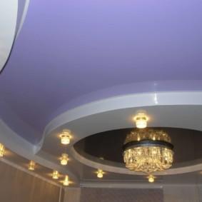 plafond tendu dans la conception de photo de couloir