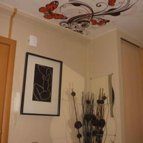 plafond tendu dans le couloir vues photo