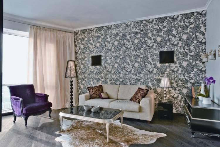 papier peint pour la conception de salon moderne