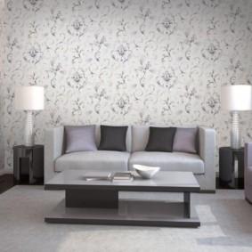 papier peint pour des idées de décoration de salon moderne