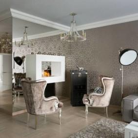papier peint pour intérieur de salon moderne