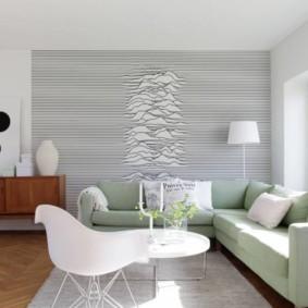 papier peint pour une vue sur le salon moderne