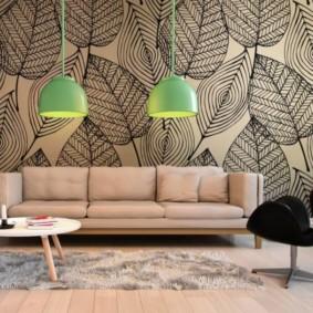fond d'écran pour des idées de conception de salon moderne