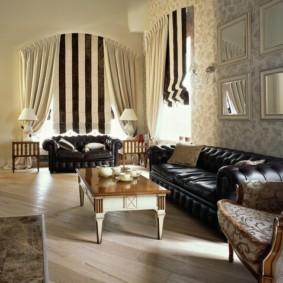 papier peint pour des idées d'intérieur de salon moderne