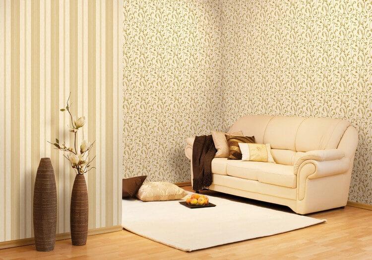 papier peint pour des idées de salon modernes
