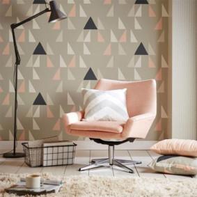 papier peint pour un salon moderne