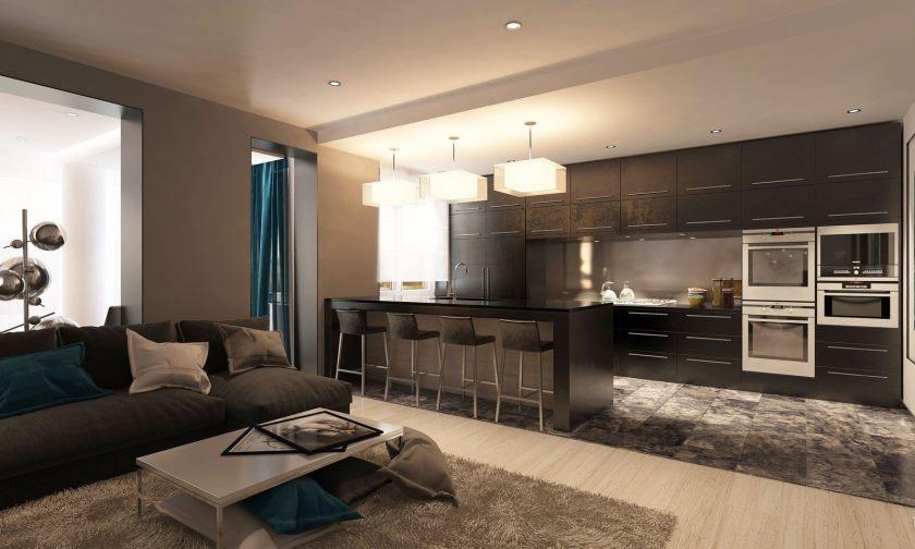 studio dans le décor photo de style loft