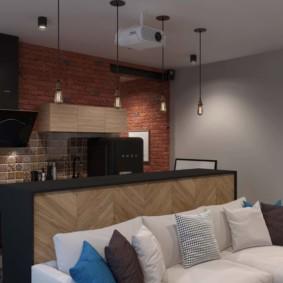 studio dans une décoration de style loft