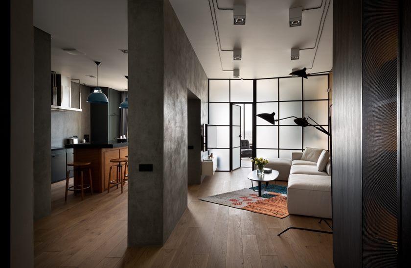 studio dans un style loft intérieur idées