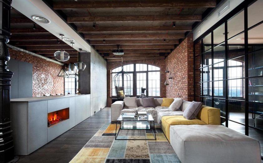 studio dans des idées de style loft