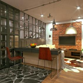 studio dans le style loft
