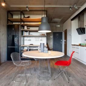 idées de conception de style loft studio appartement