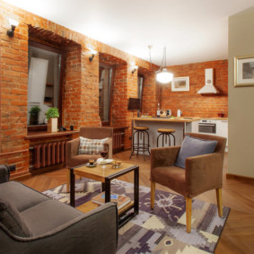 studio dans une décoration photo de style loft