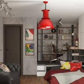 idées de décoration de studio loft