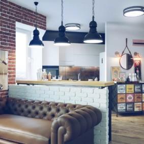 studio dans des idées d'intérieur de style loft