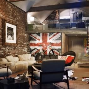 studio dans une photo d'intérieur de style loft