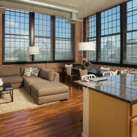studio dans des options de photo de style loft