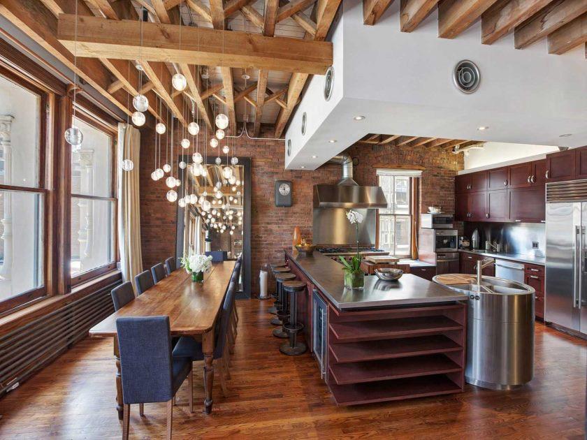 studio dans des options d'idées de style loft