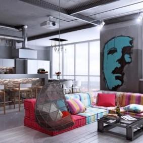 studio dans les types d'idées de style loft