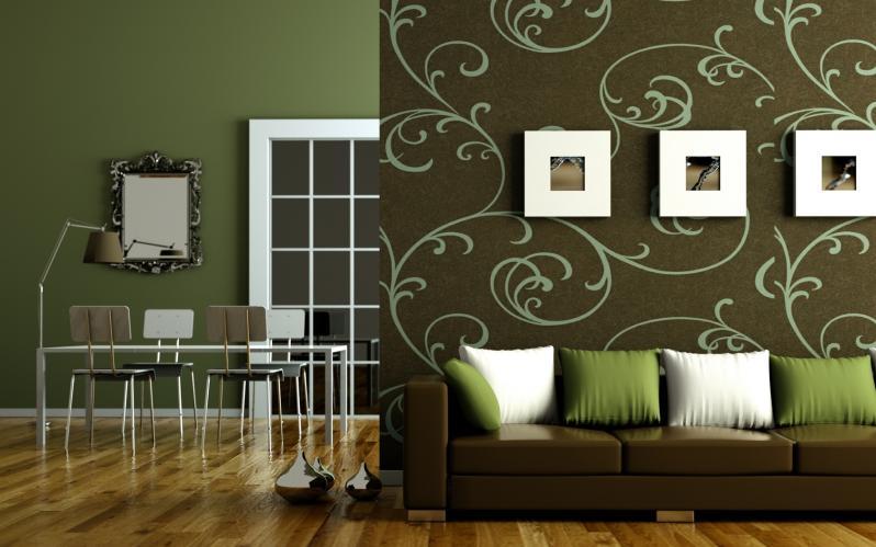 combinaison de papier peint de salon