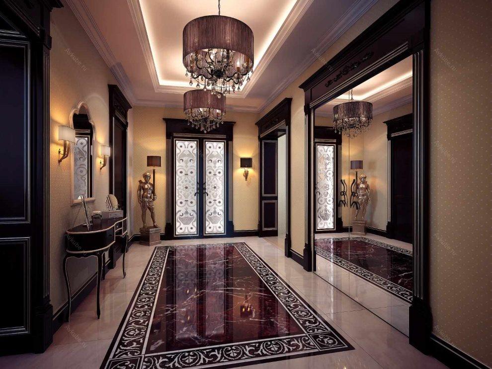 Panneau en céramique au sol du hall dans le style Art Déco