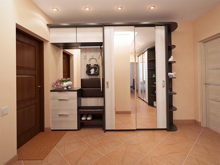 Intérieur d'un couloir spacieux de style moderne