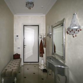 couloir dans un appartement dans un panneau maison décor photo