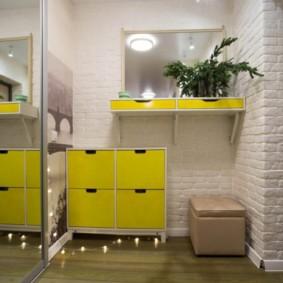 couloir dans un appartement dans une maison de panneau idées de conception