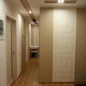 couloir dans un appartement dans une maison de panneau photo design