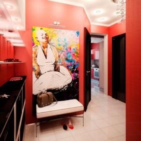 couloir dans un appartement dans une maison de panneau conception d'idées