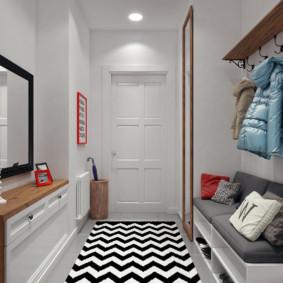 couloir dans un appartement dans une maison à panneaux options d'idées