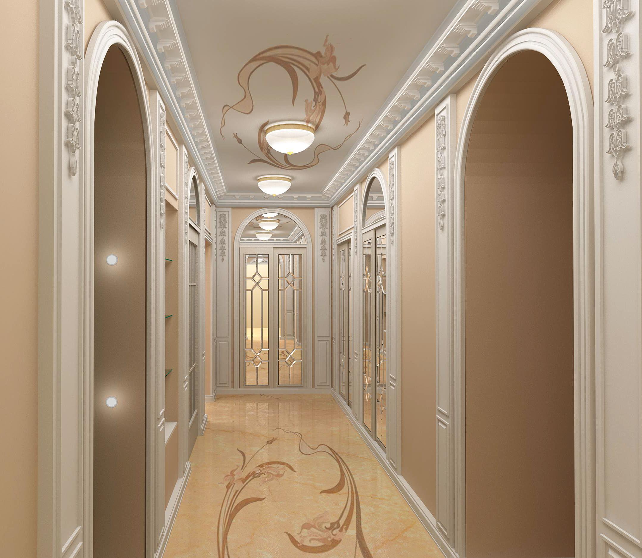 couloir dans une maison de panneau