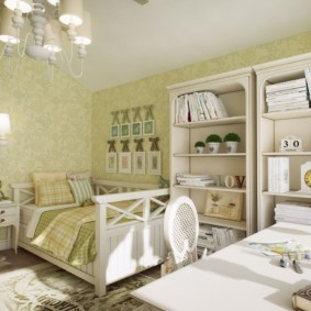 Intérieur de la chambre de bébé aux couleurs pastel