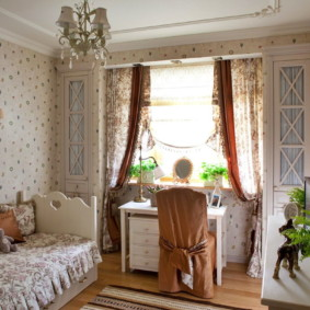 Chambre d'enfants dans le style provençal dans l'appartement