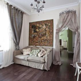 Canapé direct dans un salon moderne
