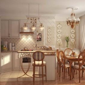 Conception de cuisine dans un appartement de style provençal