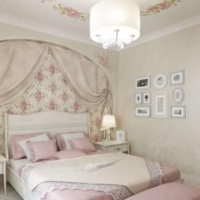 Provence dans la conception d'une chambre dans un appartement