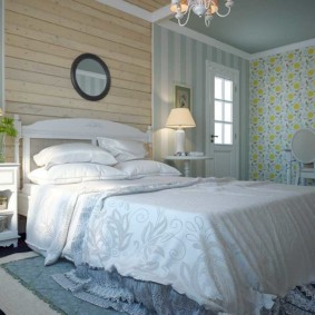 Textile naturel à l'intérieur de la chambre Provence
