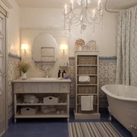 Salle de bain design dans un appartement de style provençal