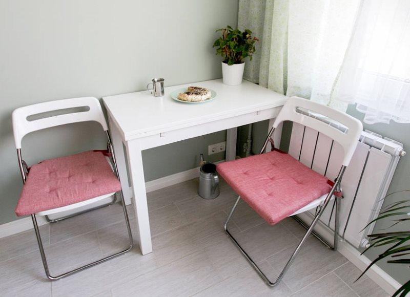 Housses de siège roses pour chaises pliantes