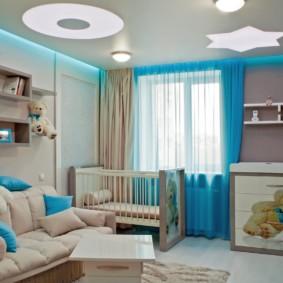 combinaison du salon et du design des enfants