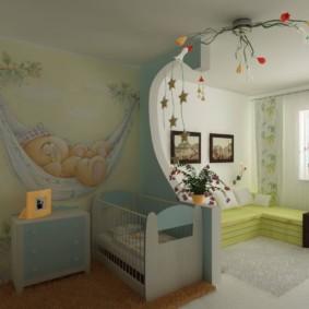 combinaison de salon et intérieur photo pour enfants