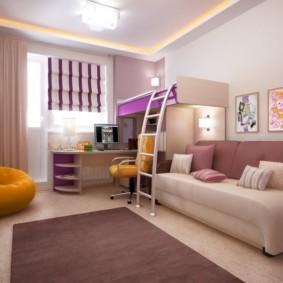 combinaison d'options de salon et de photos pour enfants