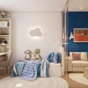 combinaison d'idées de décoration de salon et pour enfants