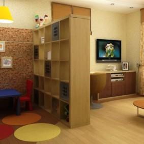 combinaison d'idées de salon et d'intérieur pour enfants