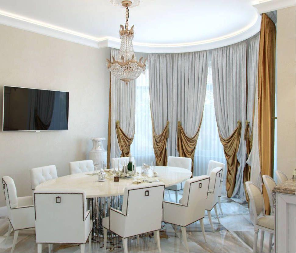 rèm cửa hiện đại thiết kế nội thất cổ điển