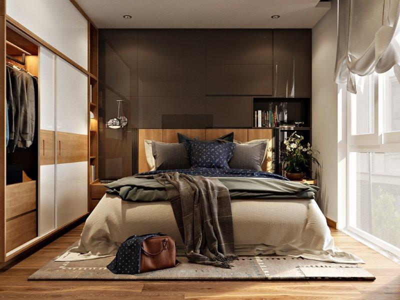 Conception d'une chambre de 3 par 3 m dans un style moderne