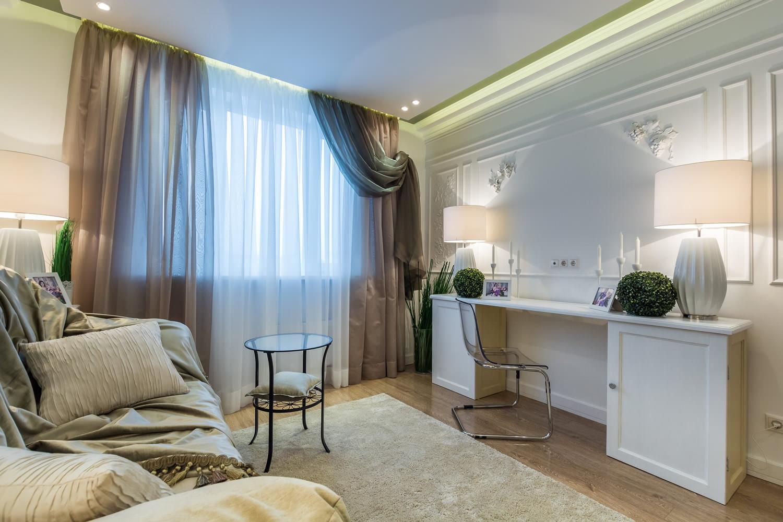 rèm cửa hiện đại cổ điển trong nội thất