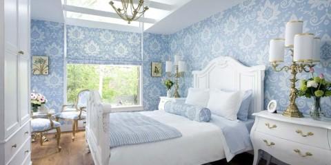 chambre à coucher dans des idées de décor bleu