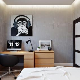 chambre 5 m² design photo